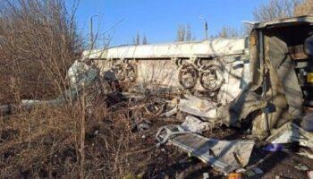 На Донбассе перевернулась автоцистерна с топливом — «ДТП»