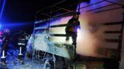 В Днепропетровской области сгорел грузовик, который перевозил мебель — «ДТП»