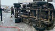 На Днепропетровщине столкнулись два грузовика, есть погибший и пострадавшие — «ДТП»