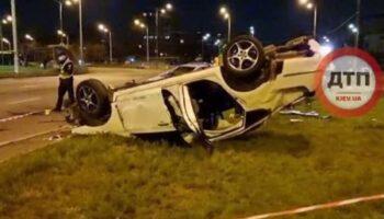 В Киеве произошло ДТП с опрокидыванием, погибла женщина — «ДТП»
